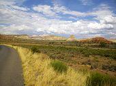 Scenic Rural Road In Utah