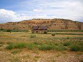 Abandoned Cabin In Rural Utah Desert