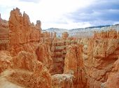 Orange Sandstone Rocks Of Bryce Canyon