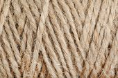 Texture of coil of coarse linen rope