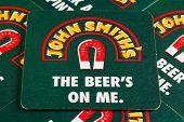 Beermats from John Smith's Beer