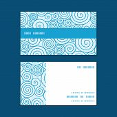Vector abstract swirls horizontal stripe frame pattern business cards set