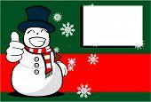 snow man cartoon xmas background03