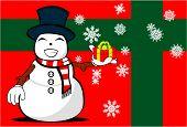 snow man cartoon xmas background01