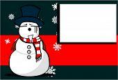 snow man cartoon xmas background8