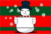 snow man cartoon xmas background1