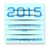 2015 Merry Christmas And Happy New Year, The Effect Of Blinds. Eps 10