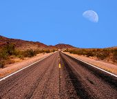 Moon And Road