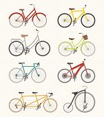 Set Of Retro Bicycle