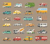 pic of ambulance car  - Set of car icon eps10 vector format - JPG