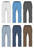 Men's sweatpants. Vector illustration.