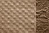 Combination Two Paper Textures Of Brown Color
