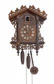 foto of pendulum clock  - Antique cuckoo clock - JPG