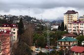 pic of sochi  - winter cityscape in Sochi - JPG