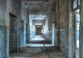 Abandoned Corridor In Beelitz