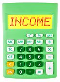 Calculator With Income On Display