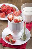 Breakfast With Yogurt And Strawberries