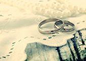 wedding rings, retro style