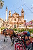 San Domenico Square And Church In Palermo, Italy