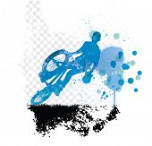 BMX. Sport vector illustration