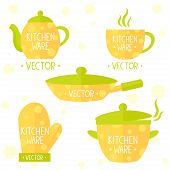 kitchenware flat set