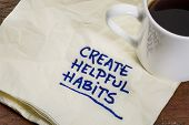 picture of  habits  - create helpful habits reminder or advice  - JPG