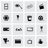 Vector cinema icon set