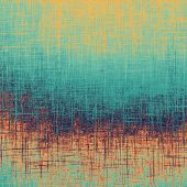 Old designed texture as abstract grunge background. With different color patterns: blue; orange; brown; yellow