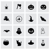 Vector halloween icon set