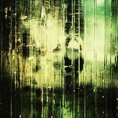 Old designed texture as abstract grunge background. With different color patterns: black; gray; green; yellow
