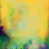 Old background or texture. With different color patterns: yellow; green; purple (violet)
