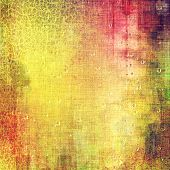 Retro background with grunge texture. With different color patterns: green; orange; red; yellow