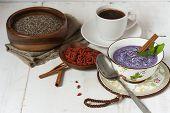 Blueberry, Chia And Goji Vegan Pudding