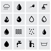Vector water icon set