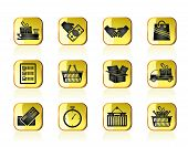Shipping and logistic icons