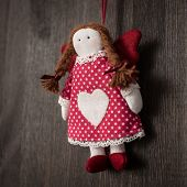 Vintage Girl Christmas Handmade Toy