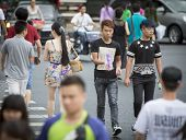Overcrowded Chinese Walkway