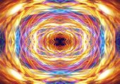 Abstract Orange Light Trails Pattern