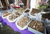 Selling Dried Mushrooms And Herbs