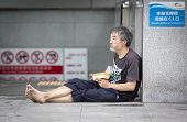 Homeless Chinese Eating