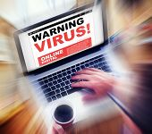 Digital Online Internet Warning Threat Virus Concept