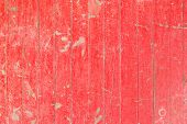 Old And Weathered Red Color Wooden Wall