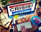 Daily News Crisis Failure Online Concepts