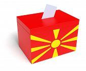 Macedonian Flag Ballot Box