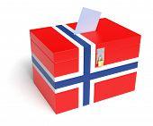 Norwegian Flag Ballot Box