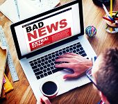 Digital Online Update Bad News Concept