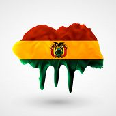 Flag of Bolivia painted colors