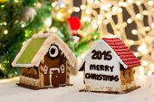 picture of gingerbread house  - holidays - JPG