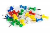 Image of isolated colored pushpin