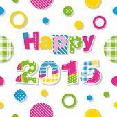 happy 2015 greeting card